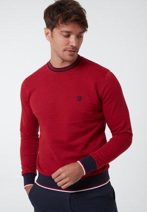MIT UNIFARBENEM STOFF - Sweatshirt - rot