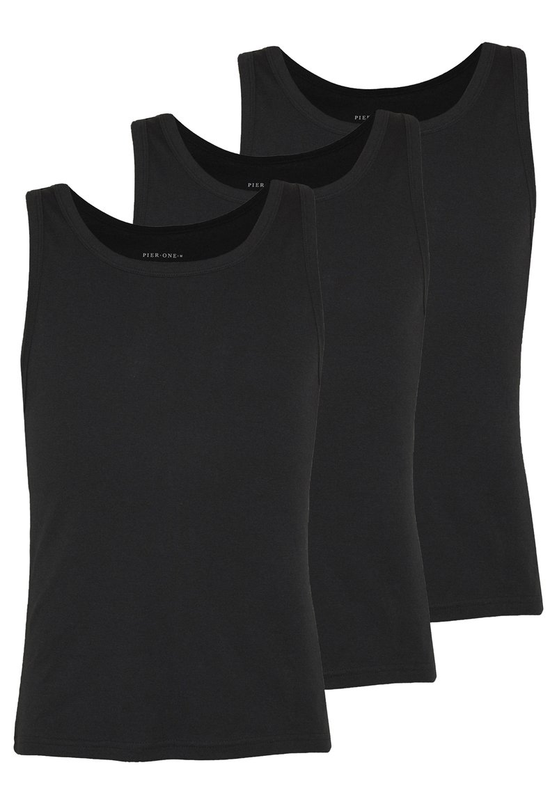 Pier One - 3 PACK - Undershirt - black