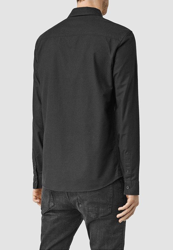 AllSaints HUNGTINGDON - Koszula - black/czarny Odzież Męska AGTP