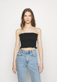 Missguided - SHEARED BANDEAU 2 PACK  - Top - black/mustard - 1