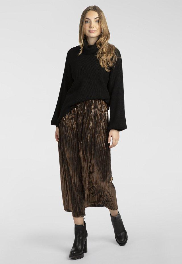 Spódnica trapezowa - braun-metallic