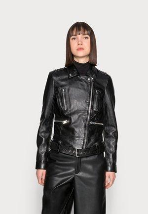 WANCA LAROXV - Leren jas - black