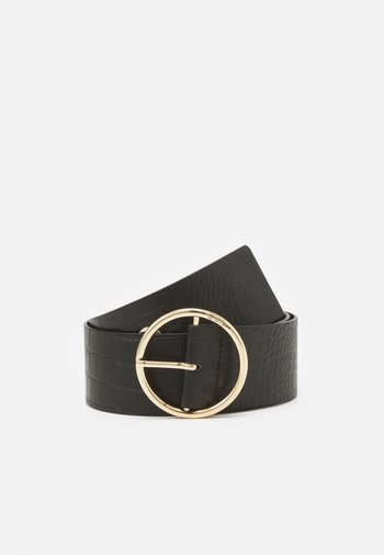 PCFIWA WAIST BELT - Waist belt - black/gold-coloured
