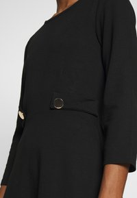 Anna Field - PUNTO FIT & FLARE - Robe en jersey - black - 5