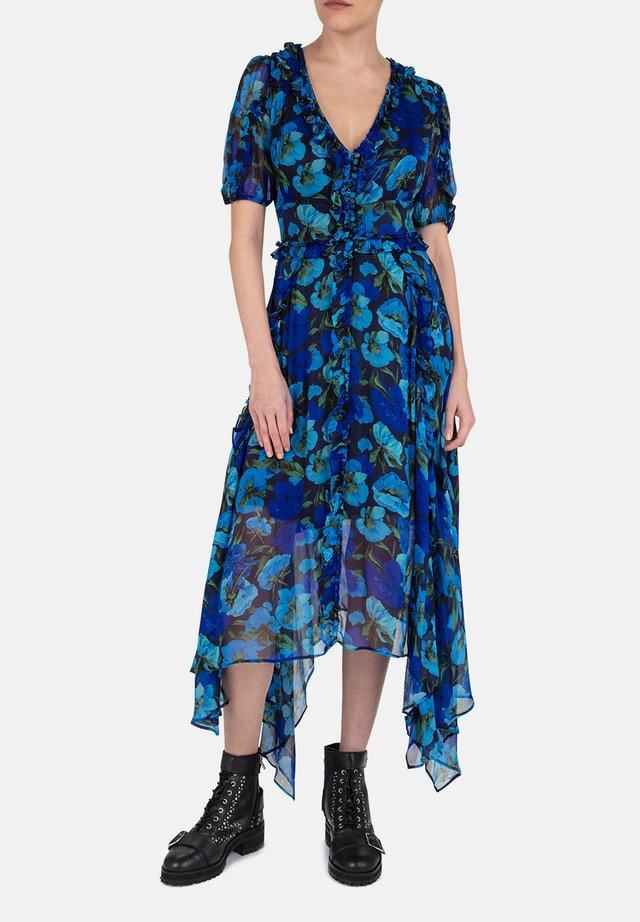 ROBE - Robe longue - blu01
