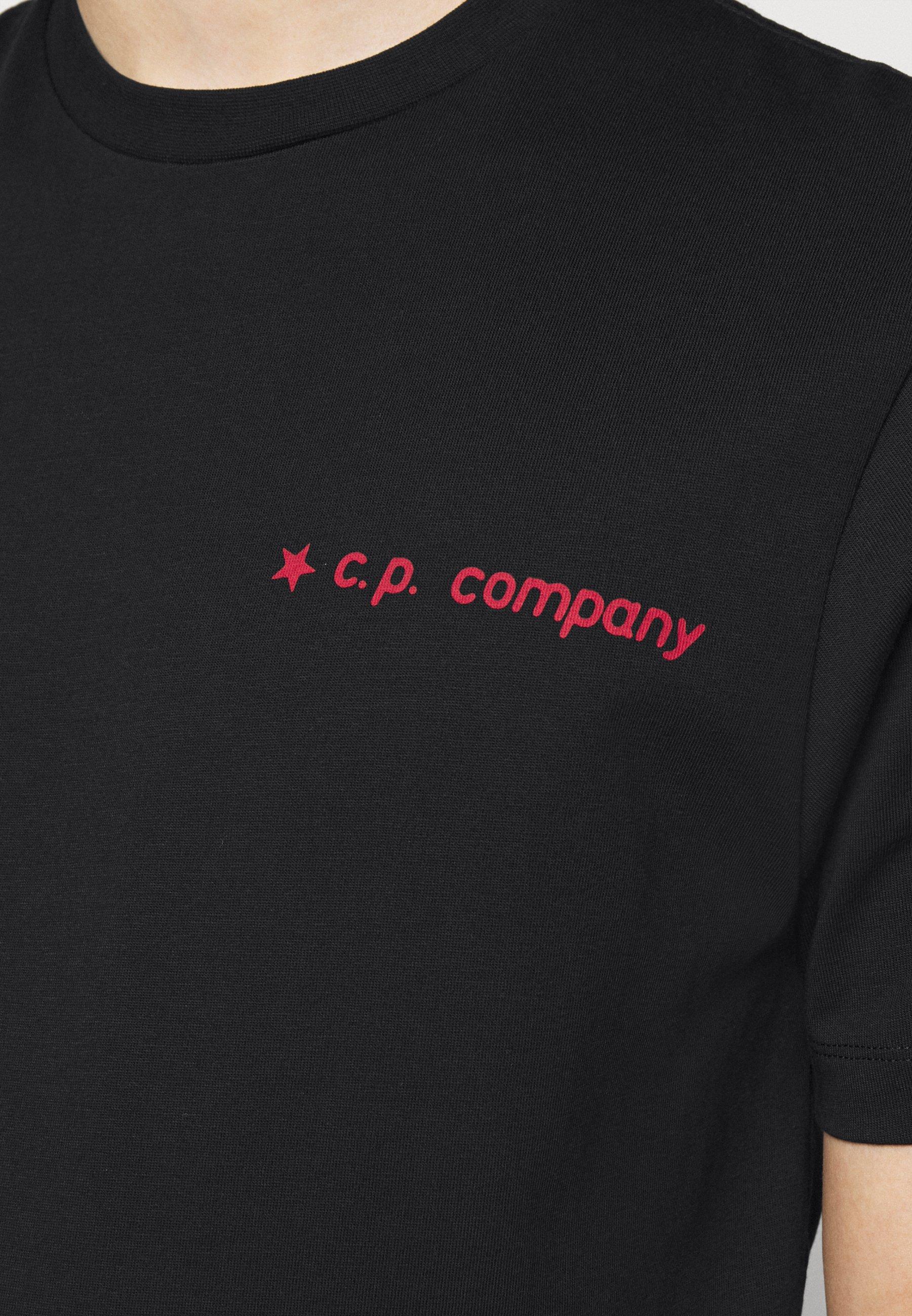 C.P. Company SHORT SLEEVE - Print T-shirt - black a9fi7