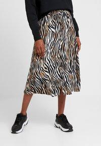 Vero Moda - VMSISSEL BUTTON SLIT SKIRT - Maxi skirt - birch - 0