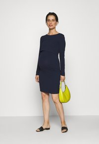 Anna Field MAMA - 2 PACK NURSING DRESS - Jerseykjoler - dark blue/black - 1