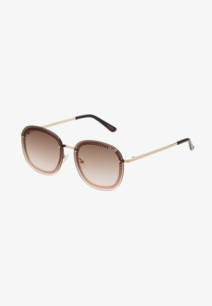 JEZABELL CHAIN - Sunglasses - gold-coloured/brown/pink