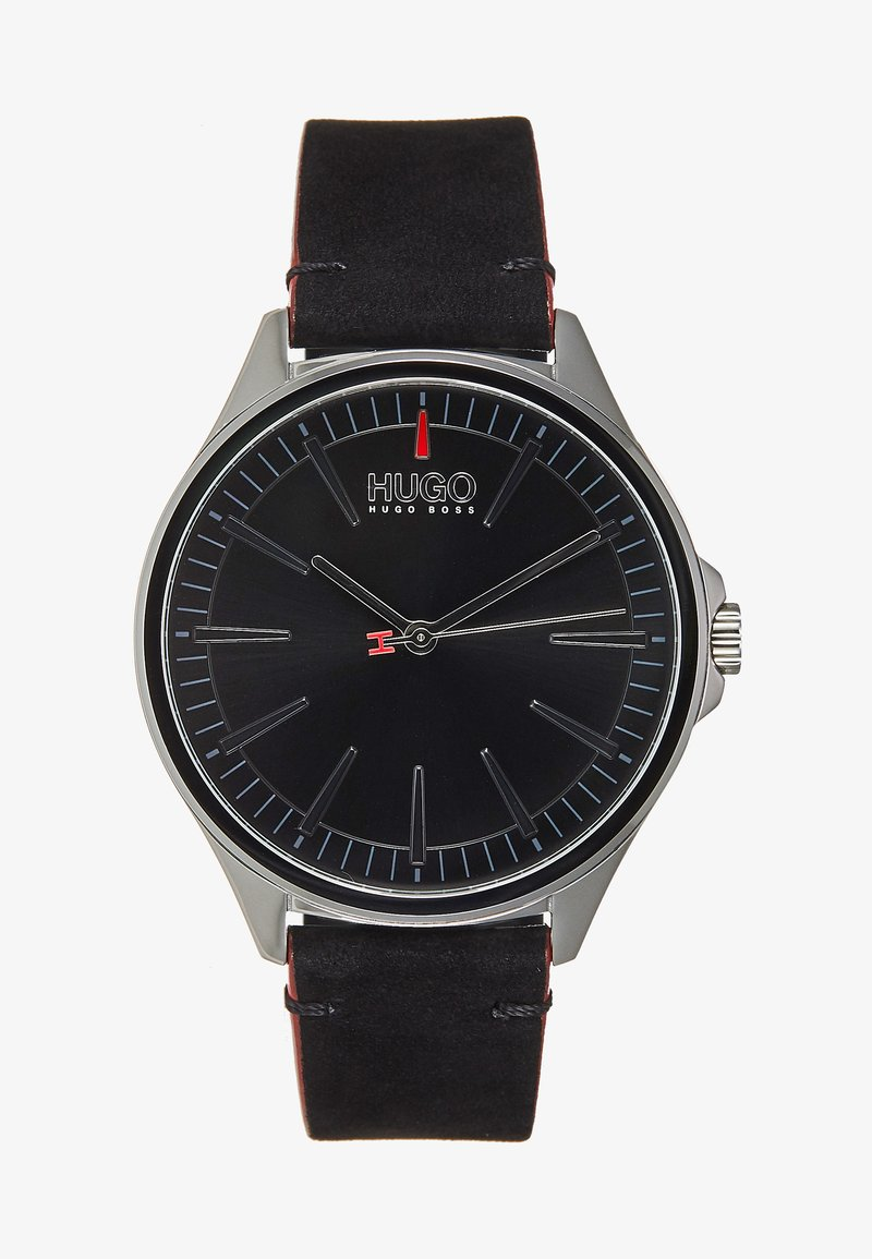 HUGO - SMASH - Watch - black/silver-coloured