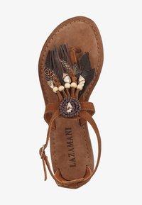 Lazamani - T-bar sandals - tan - 1