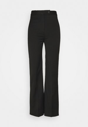 HIGH WAIST CROPPED LIGHTWEIGHT STRETCH TROUSER - Tygbyxor - black