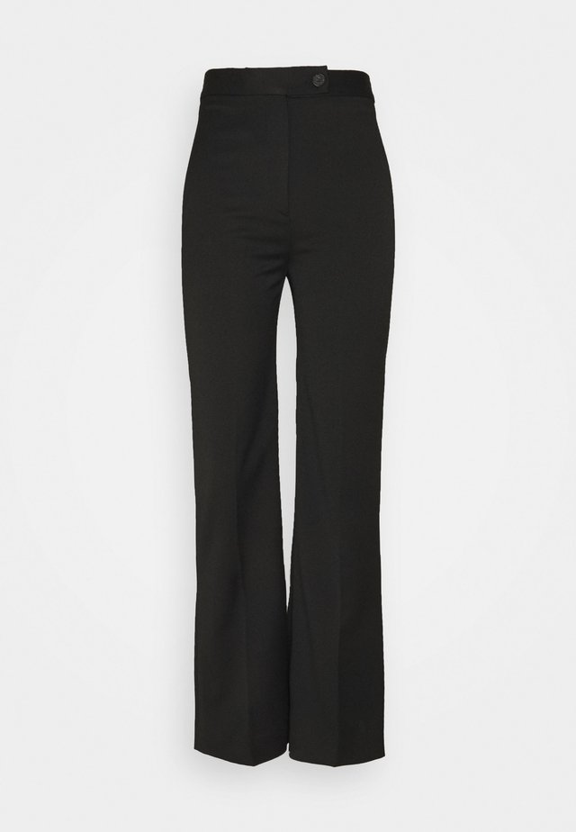 HIGH WAIST CROPPED LIGHTWEIGHT STRETCH TROUSER - Trousers - black