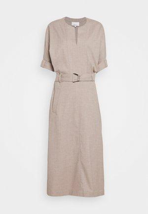 BELTED DOLMAN SLEEVE DRESS - Korte jurk - warm grey melange