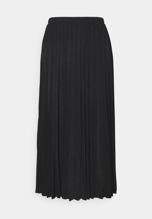OBJDINES LONG SKIRT - Pleated skirt - black