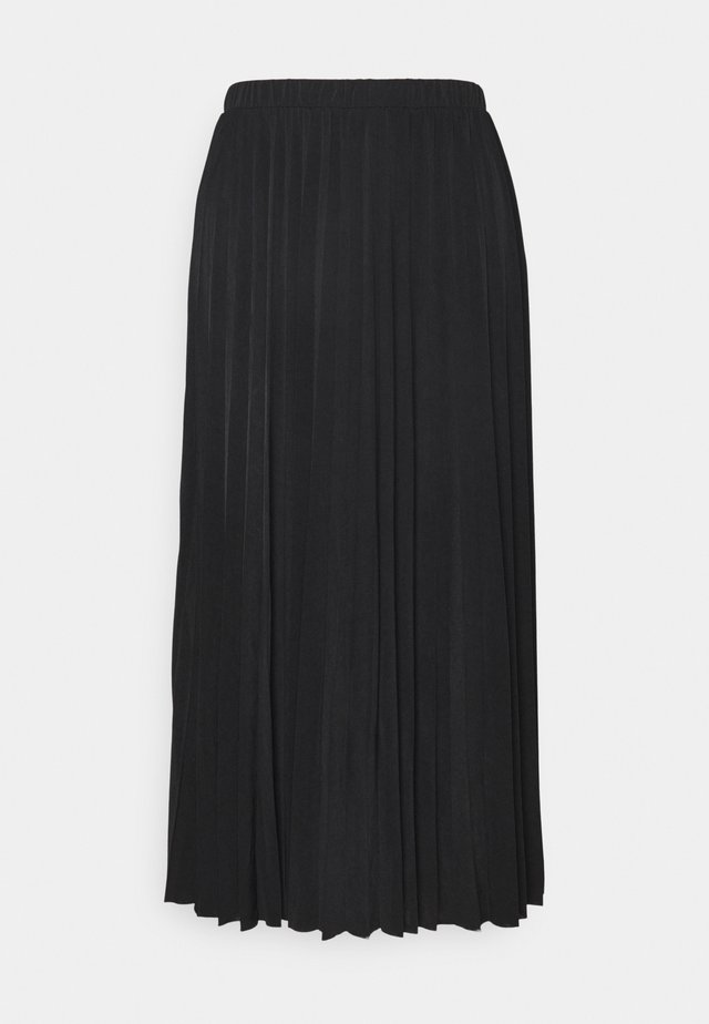 OBJDINES LONG SKIRT - A-linjainen hame - black