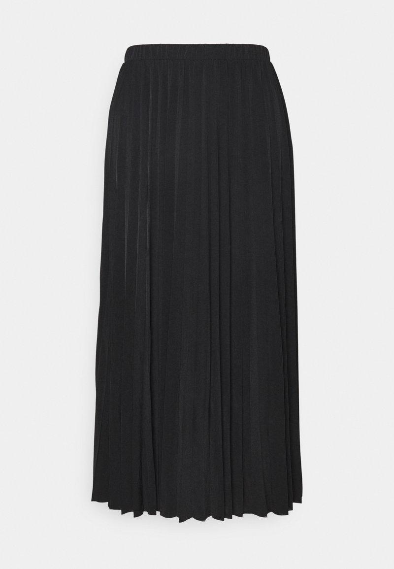 Object Tall - OBJDINES LONG SKIRT - A-line skirt - black