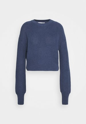 BALLOON SLEEVE CROPPED JUMPER - Maglione - navy