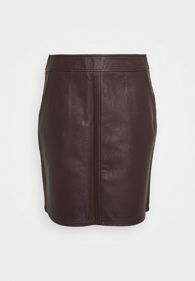 BERRY MINI - Mini skirt - purple
