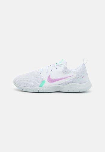 FLEX EXPERIENCE - Zapatillas de running neutras - white/violet shock/green glow/football grey/infinite lilac/pure platinum