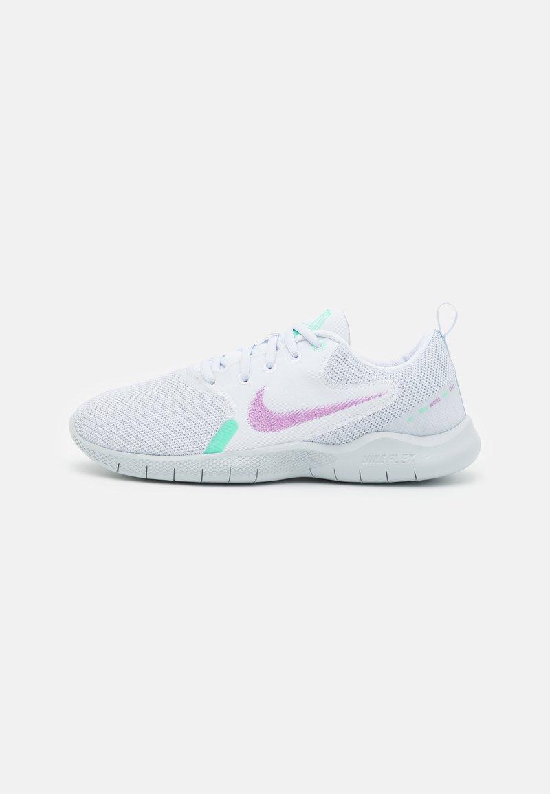 Nike Performance - FLEX EXPERIENCE - Zapatillas de running neutras - white/violet shock/green glow/football grey/infinite lilac/pure platinum