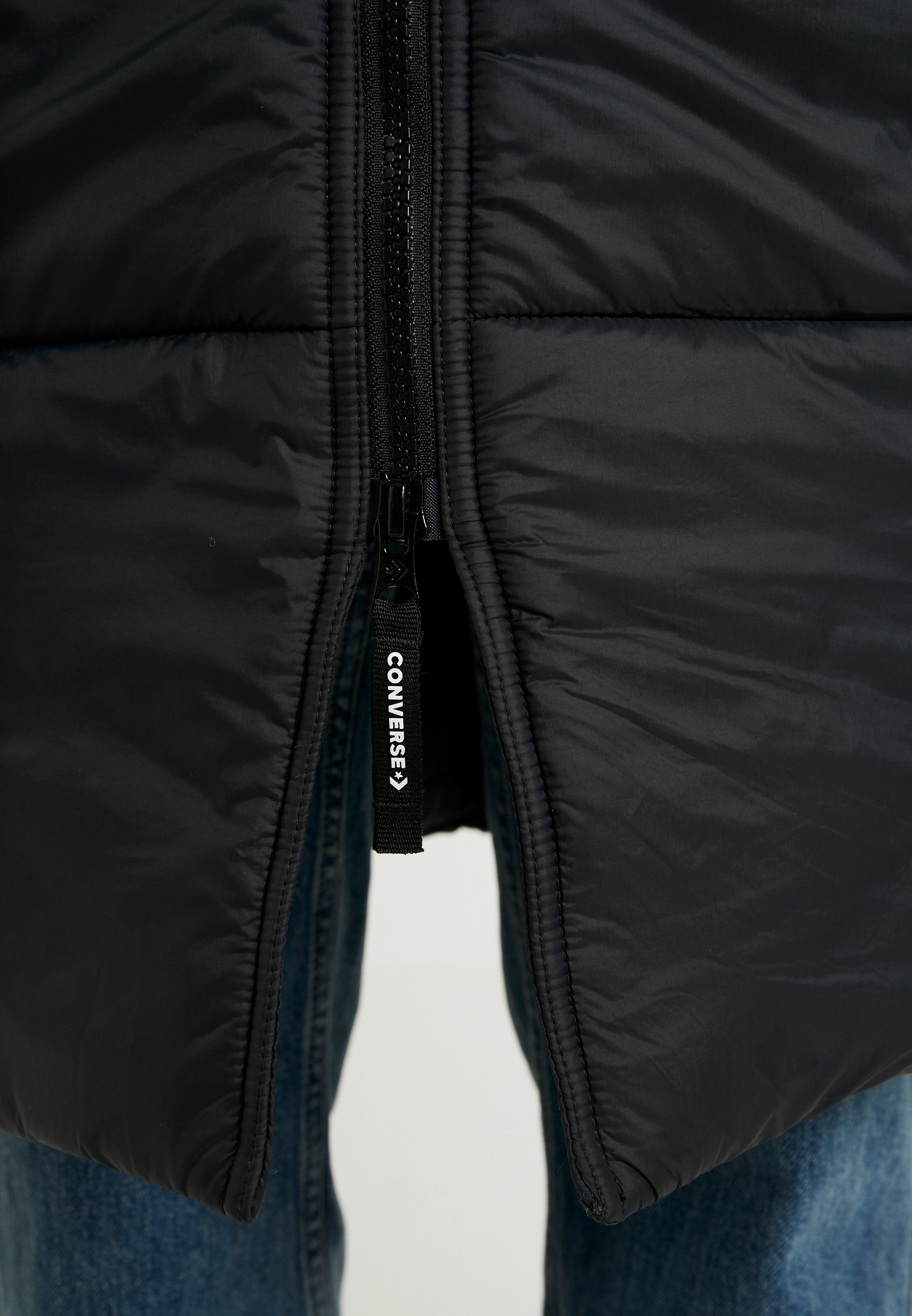 SYNTHETIC LONG JACKET Płaszcz zimowy black