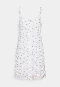 Hollister Co. - BARE RUCHED SHORT DRESS - Kjole - white - 5