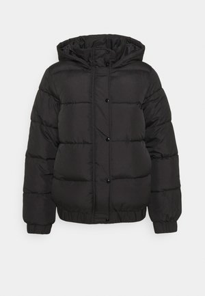 HOODED PUFFER JACKET - Winter jacket - black