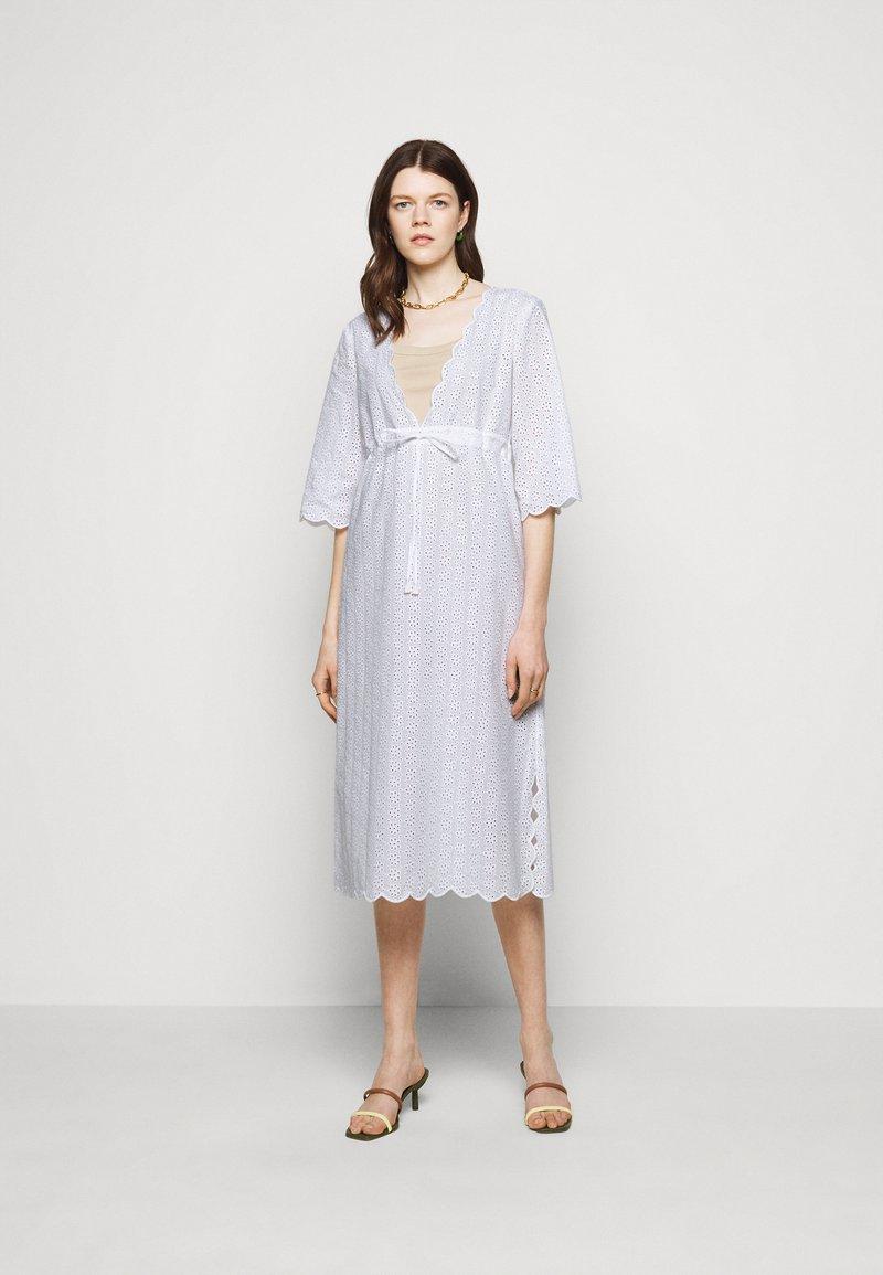Tory Burch - MIDI BEACH TUNIC DRESS - Day dress - white
