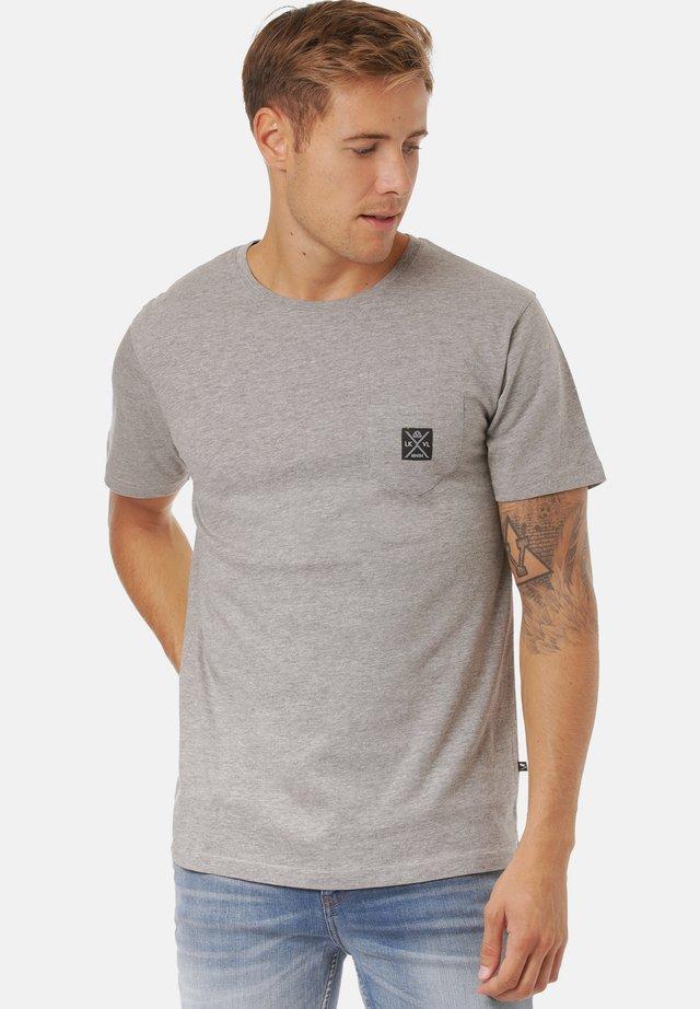 MATOPO - Basic T-shirt - mid grey mel
