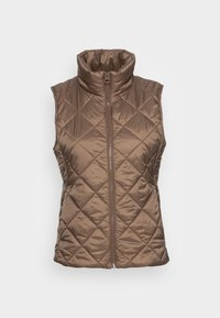Marc O'Polo - VEST STAND UP COLLAR FRONT ZIPPER - Waistcoat - nutshell brown - 3