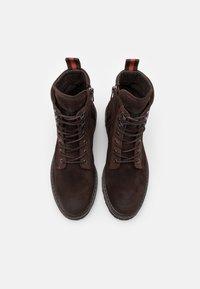 Marc O'Polo - LACE UP BOOT - Šněrovací kotníkové boty - dark brown - 3