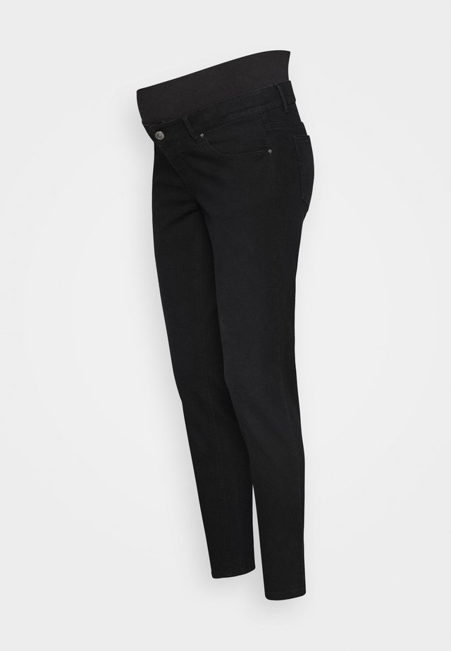 PCMKENYA MOM - Skinny-Farkut - black denim