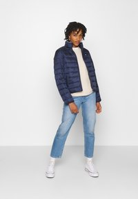 Tommy Jeans - QUILTED ZIP THROUGH - Jas - twilight navy - 1