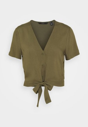 VMSIMPLY EASY SHIRT TIE - Blouse - ivy green