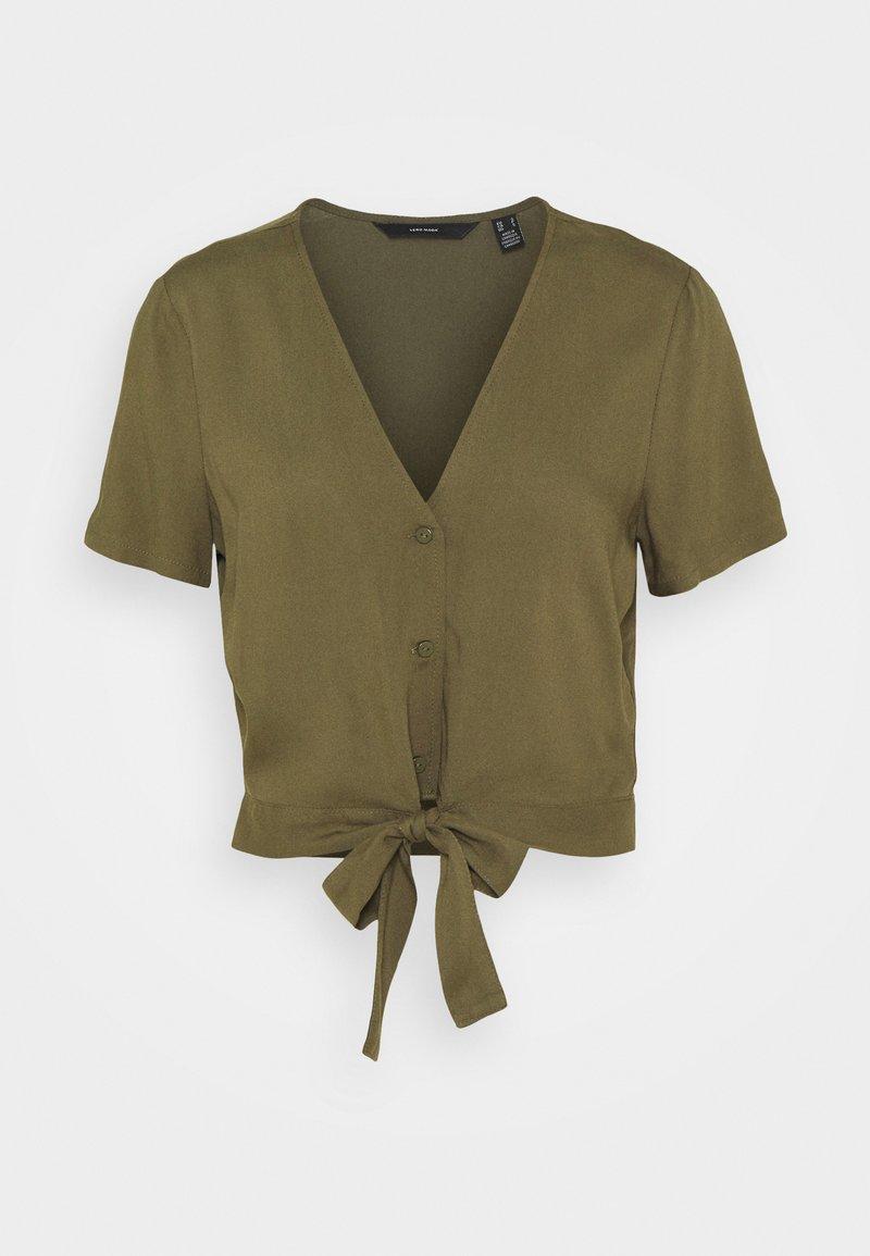 Vero Moda - VMSIMPLY EASY TIE  - T-shirt print - ivy green