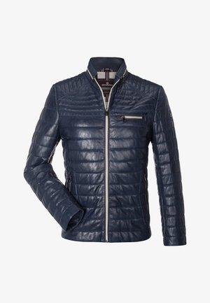 TERENZ - Leather jacket - blau