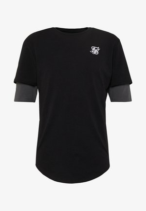 INSET SLEEVE GYM TEE - Basic T-shirt - burgundy/black