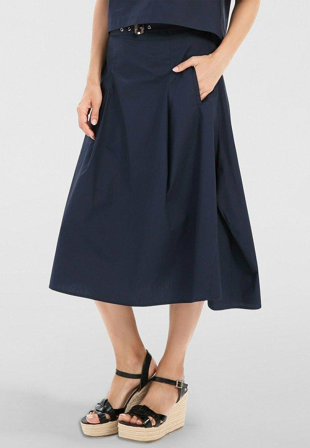 ROCK - A-line skirt - nachtblau