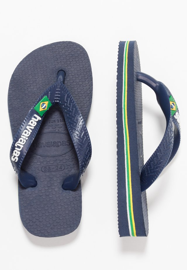 BRASIL LOGO - Pool shoes - navy blue
