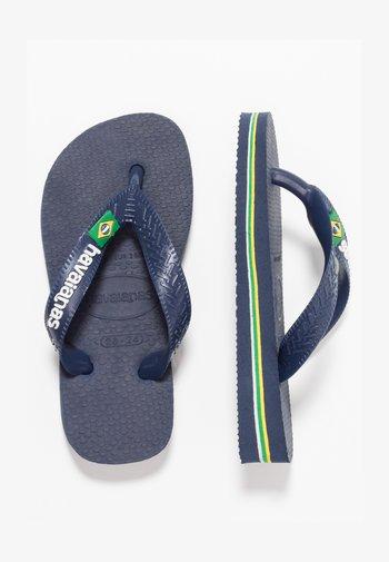 BRASIL LOGO - Pool shoes - Navy blue