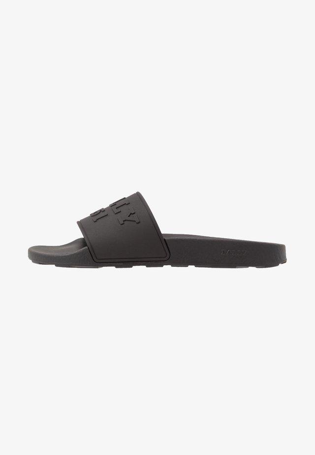SLAIM - Sandales de bain - black