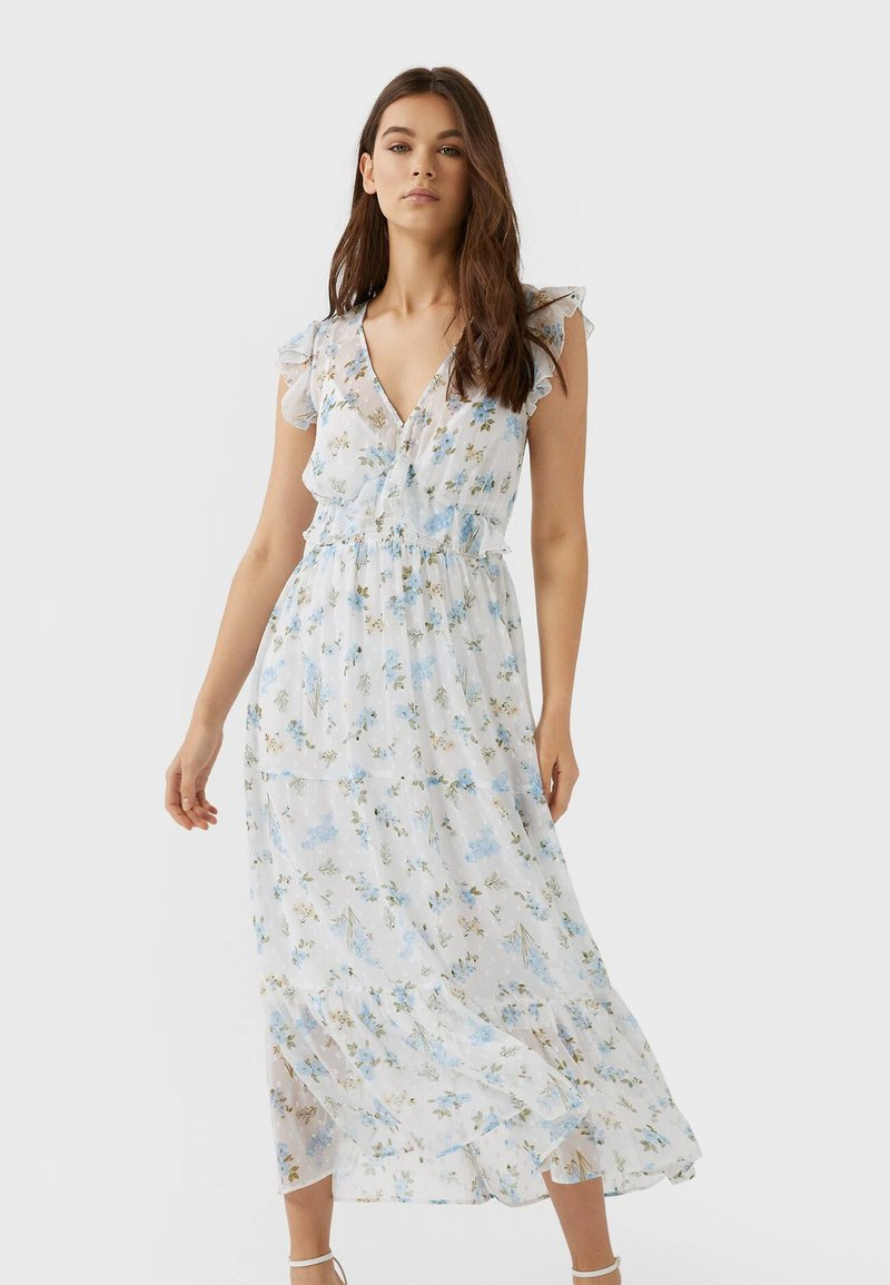 Stradivarius - Maxi dress - blue