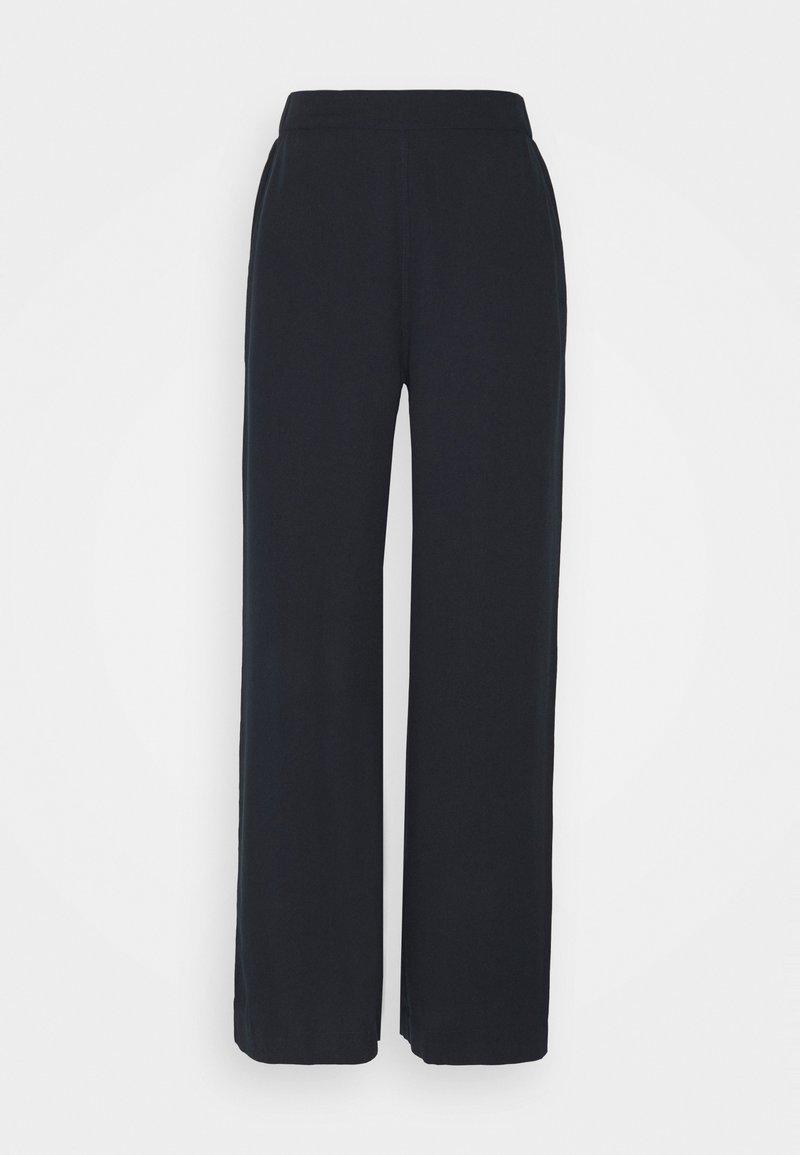 esmé studios - MYLA WIDE LOOSE PANTS - Kalhoty - dark sapphire