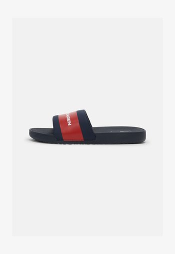 BENSLEY III UNISEX - Pantofle - navy smooth/red