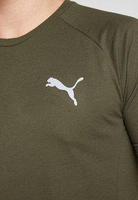 Puma - EVOSTRIPE TEE - Basic T-shirt - forest night - 5
