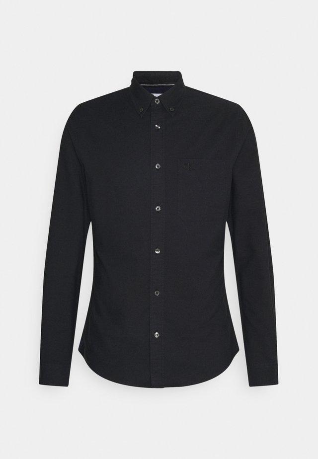 OXFORD SOLID SLIM - Camicia - black