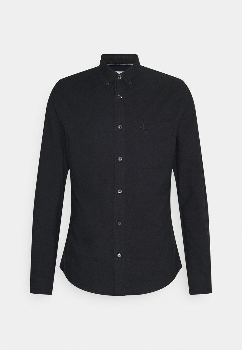 Calvin Klein Jeans - OXFORD SOLID SLIM - Shirt - black