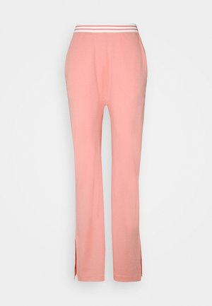 HIGH WAIST WIDE LEG PANTS - Pantalones deportivos - pink
