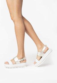 NeroGiardini - Platform sandals - white - 0